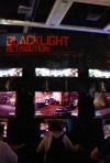 Zombie Studios Blacklight Retribution demo booth.